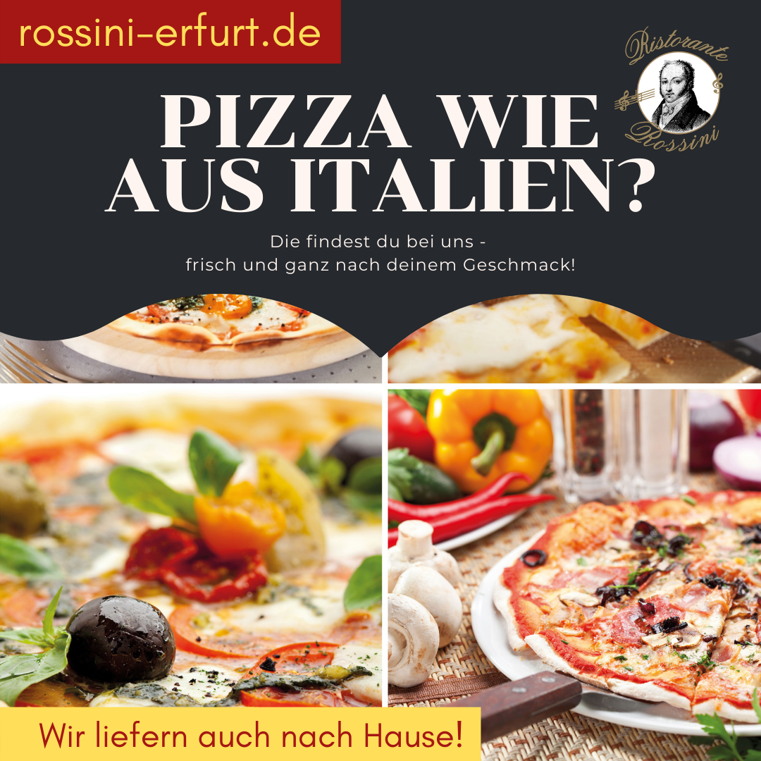 Steinofenpizza, wie aus Italien in Ihrem Ristorante Rossini